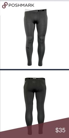 """Under Armour Men's HeatGear compression Compression: Ultra-tight, second skin fit. HeatGear® fabric, with all the benefits of UA Compression, comfortable enough to be worn all day UPF 30+ protects your skin from the sun's harmful rays 4-way stretch fabrication allows greater mobility in any direction Moisture Transport System wicks sweat & dries fast Anti-odor technology prevents the growth of odor causing microbes Engineered elastic waistband with ARMOUR wordmark Inseam: 26"""" 7.0 oz…"""