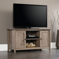Amazon.com: Sauder 417772 TV Stand, Furniture, Salt Oak: Kitchen & Dining