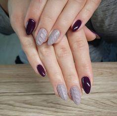 Un cosy nail avec des couleurs d'automne pour rester élégante #cosy #nail #cozy #nailart #inspiration #hiver #winter #pullover #manucure #vernis #monvanityideal