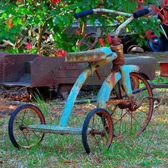 a tricycle that's been places