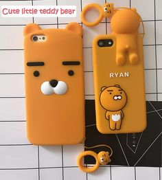 Lovely Cartoon Ryan Lion bear back cover cases for iphone 7 6 plus soft Silicone phone case For Ring pendant Cool Cases, Cute Phone Cases, 5s Cases, Iphone 7 Plus Cases, Iphone 6, Iphone Phone Cases, Phone Covers, Ryan Bear, Friends Phone Case