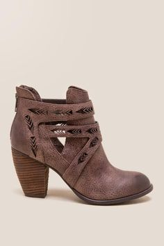 Not Rated - Enzo Laser Cutout Bootie