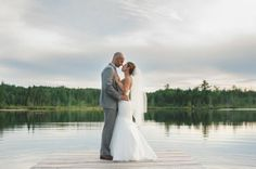 Great picture of the happy couple.  Don't they look like they are standing on the water?