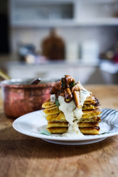 Crispy Spaghetti Squash Crepes with Mushrooms and Sage l Feasting at Home