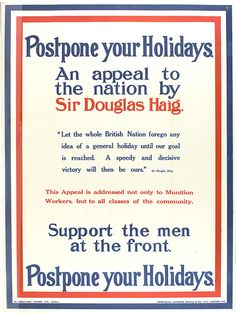 Postpone you holidays poster from the National Archives