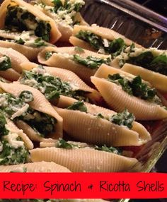 Spinach & Ricotta Shells - so cheesy & delicious - you'd never know it was HEALTHY