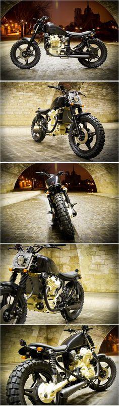 Bobber motorcycle ideas street tracker Ideas for 2019 Blitz Motorcycles, Honda Motorcycles, Vintage Motorcycles, Custom Motorcycles, Custom Bikes, Cafe Racers, Cx500 Cafe Racer, Rockers, Moto Scrambler