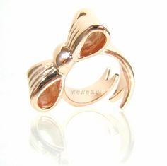 Wrap a Bow Ribbon Ring  rose gold plated  by wewear on Etsy, $27.00