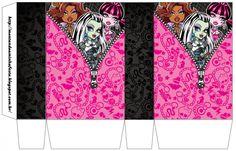 Monster High: Lindas Cajas para Imprimir Gratis.