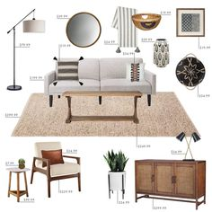 Target Budget Living Room - Emily Henderson - Emily Henderson Target Living Room California Casual Budget Refresh You are in the right place about - Casual Living Rooms, Living Room On A Budget, Living Room Remodel, My Living Room, Home And Living, Living Room Furniture, Living Room Decor, Bedroom Decor, Furniture Stores