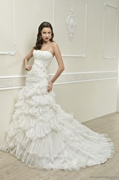 Wedding dress Cosmobella 7599 Mermaid Strapless [314494] - $285.00 : Promgown4love.com