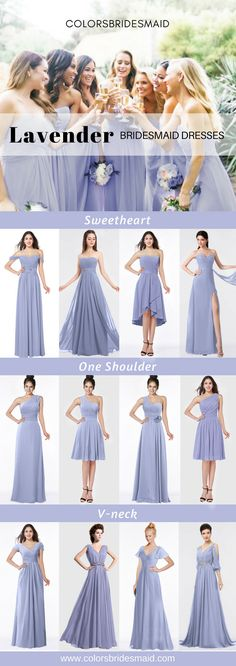 b46ee7cb0fb Lavender bridesmaid dresses long and short in sweetheart