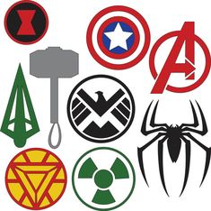 Marvel Superhero Logos SVG & DXF files by HatchWork on Etsy