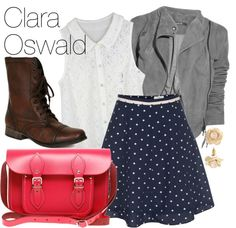 """Clara Oswald Inspired Outfit"" by bramblewoodfashion ❤ liked on Polyvore"