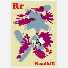 Letter R  - cheeky & politically incorrect image print.      now featured on Fab.