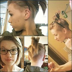 Crazy i know but i think its cute actually have short hair and be able to put in a ponytail