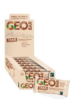 Traidcraft's Geobar on Packaging of the World - Creative Package Design Gallery Banana Energy, Tree Bar, Banana Bars, Fruit Packaging, Fair Trade Coffee, Natural Energy, Energy Bars, Organic Vegetables