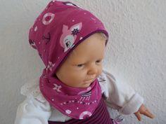 Sets - Mütze und Halstuch, Wunschgröße - ein Designerstück von Nachtfalter-Lydia…