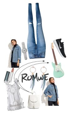 """""""Denims"""" by nikitamerchant ❤ liked on Polyvore featuring Maybelline, Everlane, H&M and NIKE"""