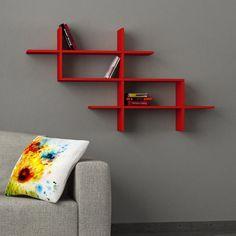 Halic Wall Shelf Red