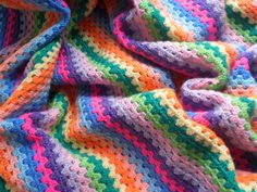 Ravelry: Granny Stripes by Lucy of Attic24 Granny Stripes, Granny Stripe Crochet, Grannies Crochet, Granny Stripe Blanket, Afghan Crochet Patterns, Crochet Stitches, Crochet Afghans, Crochet Blankets, Granny Squares