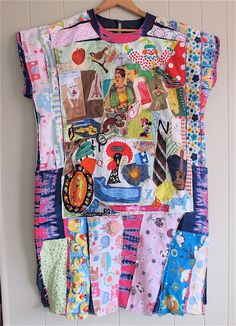 PATCHWORK COUTURE COLLAGE Clothing   Wearable Fabric by MyBonny
