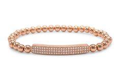Brass Cubic Zirconia Design Charm Bracelet
