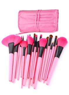 Pink makeup brushes!