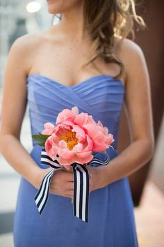 Photo: Cristina G Photography; Lush Lavender Chicago Wedding at the History Museum from Cristina G Photography - bridesmaid dress and bridal bouquet