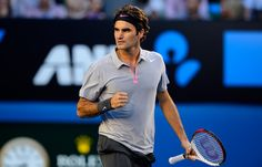 Roger Federer def. Tomic, 6-4,7-6,6-1 in the 3rd round of the Aussie Open.