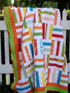 Fence Rail Quilt - gorgeous and happy