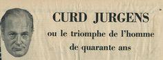 Nachlass Curd Jürgens | THIS HAPPY FEELING (1958) Französisches Zeitungsinserat