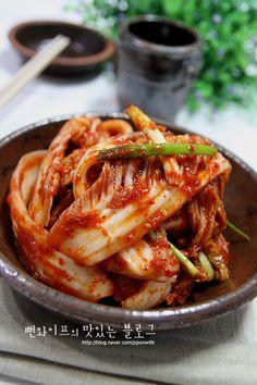 칼국수의 최고 짝꿍~~ 입맛 잡아주는 아삭한 배추겉절이(배추막김치,배추김치) : 네이버 블로그