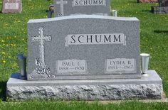 Paul E. & Lydia B. (Schumm) Schumm, Zion Lutheran Cemetery, Schumm, Van Wert County, Ohio. (2012 photoby Karen. #genealogy