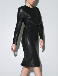 Priory of Ten leather clan dress black