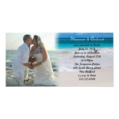 After the #private #wedding, photo card announcement & invitation to party!