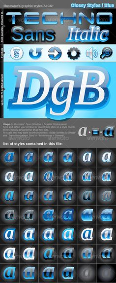 Illustrator Graphic Styles. Glossy - GraphicRiver Item for Sale