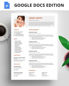 How to create effective resume? This board is about Resume formats and tips for amazing resume creation. Best Resume Template, Resume Template Free, Templates Free, Design Templates, Google Docs, Resume Writing Examples, Good Cv, Effective Resume, How To Make Resume