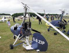 Single-seat Montgomerie Merlin B8MR autogyro at the Popular Flying Association Rally, Kemble Airfield, Gloucestershire, England. The aircraft is sold as a kit from their Ayrshire, Scotland, factory.    Photographed by Adrian Pingstone on 2nd July 2005