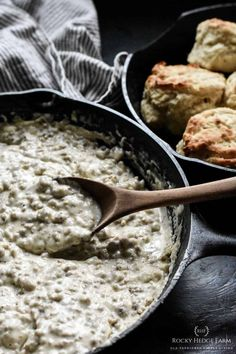 Best Sausage Gravy Recipe How do you make sausage gravy from scratch? Country Sausage Gravy {Biscuits and Gravy} How to Make Sausage Gravy Southern Sausage Gravy served with Biscuits Homemade Sausage Gravy Old Fashioned Sausage Gravy Sausage Gravy in a cast iron skillet How do you make white sausage gravy from scratch? Bisquits And Gravy, Homemade Gravy For Biscuits, Homemade Gravy Recipe, Sausage Gravy And Biscuits, Buttermilk Biscuits, Flour Gravy Recipe, Biscuit Recipe, Breakfast Dishes, Breakfast Recipes