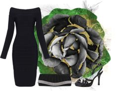 """Black Rose"" by joumana-diab-taha ❤ liked on Polyvore"