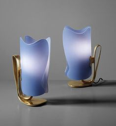 PHILLIPS : UK050115, Fontana Arte, Pair of table lamps