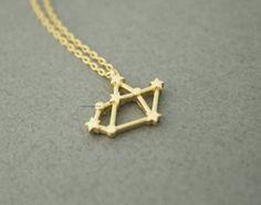 Luulla-Zizibejewelry-Sagittarius, the Archer Pendant necklace in 3 colors - Zodiac Sign jewelry, N0503K-$11.50(Artfire-Zizibejewelry)