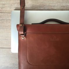 Bleu de Chauffe bag. Leather Laptop bag. Men's bag. Macbook 13 ´´ / sleeve / protection