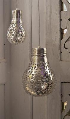 Spray paint light bulbs!