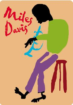 MILES DAVIS Rare Trumpet, African American Jazz Art, Trumpet Art. $6.99, via Etsy.