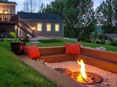 Cozy Outdoor Seating Area with Fire Pit
