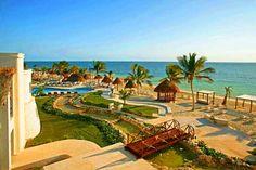 Azul Beach Hotel, Riviera Maya, Mexico. Has family swim up suites. All inclusive kid friendly.