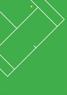Tennis by Harry Heptonstall c/o http://print-process.com/Artist/Harry_Heptonstall/