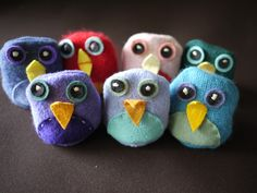 Great way to teach sewing to second graders this year, modify into owls.  Also could modify to create day of the dead sugar skulls.